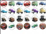 24 x CARS Movie Rice Wafer Paper Cake Top Toppers NEW